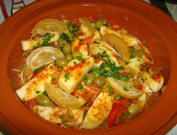 Chicken Tajine With Preserved Lemon and Olives