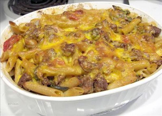 Burger Baked Penne With Spinach