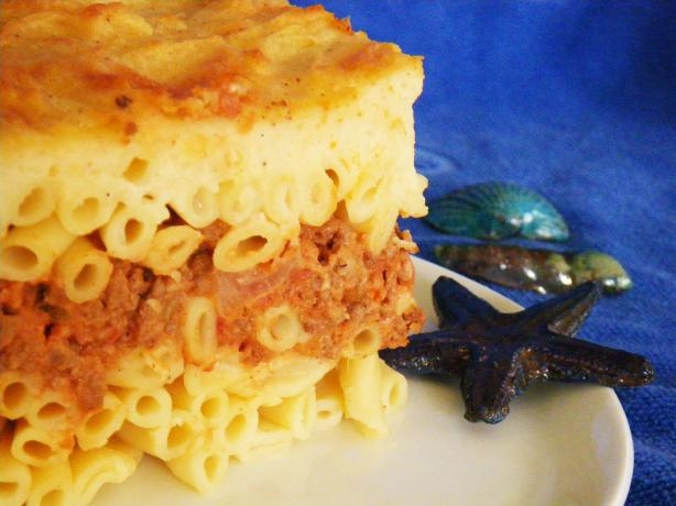 Island Pasticio (Greek Noodle Casserole With Ground Meat)