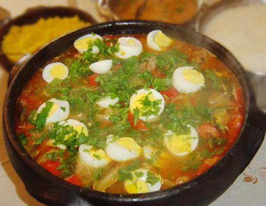 Bahian Brasilian Fish Stew, Decorated With Boiled Eggs (Moqueca