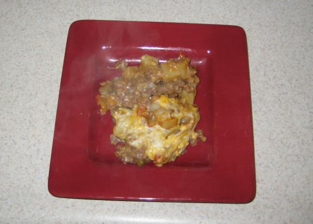 Budget Stretcher Beef and Potato Casserole