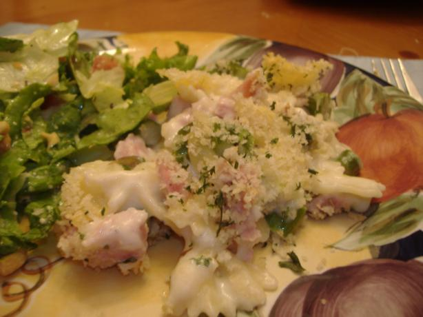 Creamy Ham and Macaroni Bake