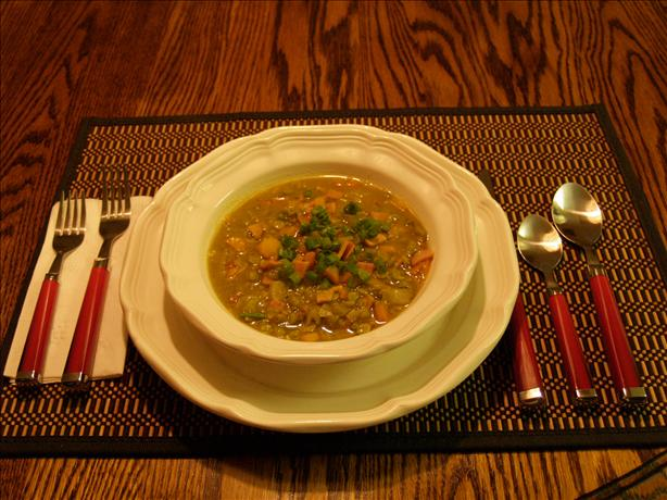 Crock Pot Curry Split Pea Soup