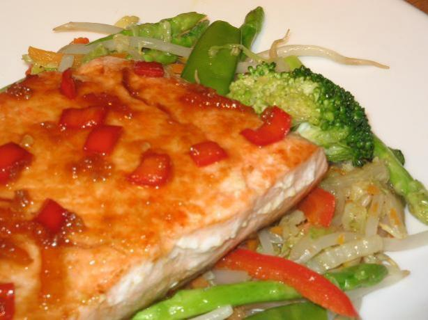 Salmon With Ginger and Orange Sauce