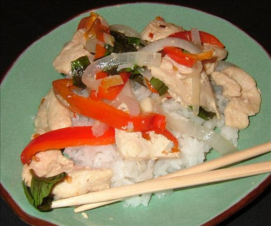Spicy Chicken Stir Fry With Basil