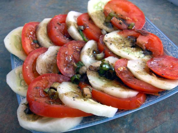 Simple Marinated Vine Ripened Tomatoes