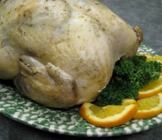 Herbed Roast Chicken for Crock Pot (With Bonus Stock)