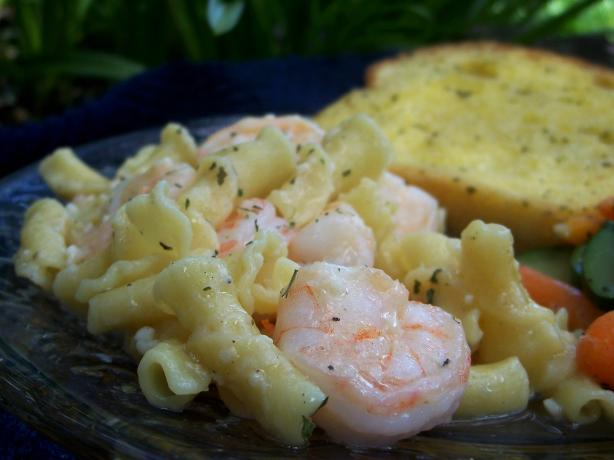 Garlic Pasta With Shrimp