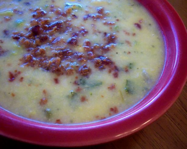 Leftover Mashed Potato & Cheddar Soup