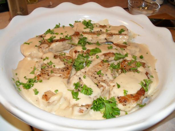 Braised Pork Chops in Sour Cream Sauce