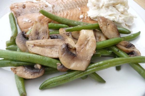 Green Beans With Mushrooms - Diabetic