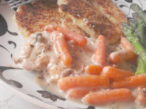 Skillet Chicken Breast Dinner With Savory Gravy and Vegetables