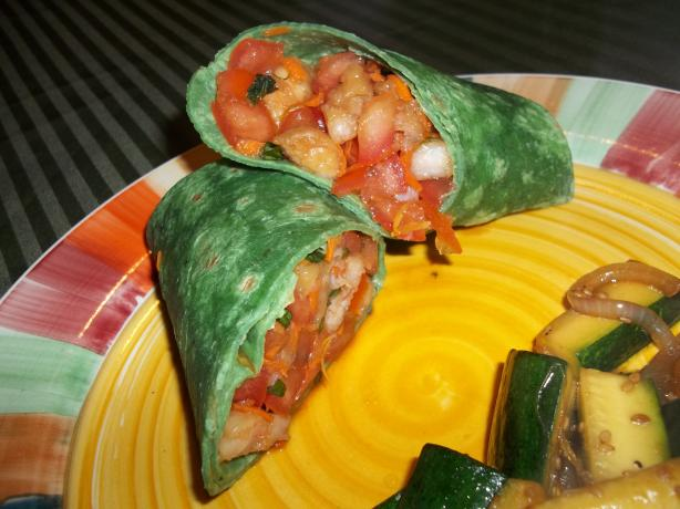 Thai-Style Tomato and Shrimp Wrap Ww