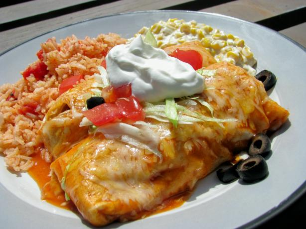 Kiki's Chicken and Bean Enchiladas