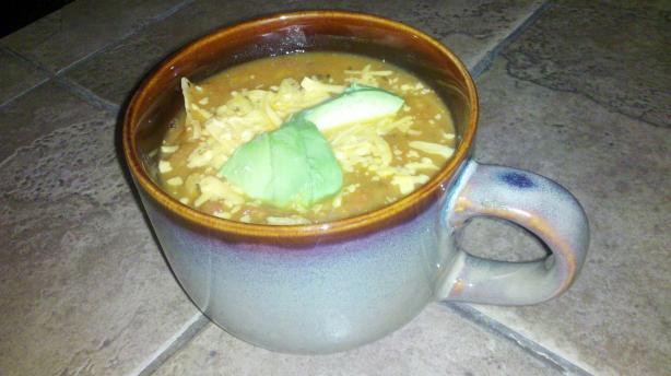 Vegetarian Pumpkin Tortilla Soup