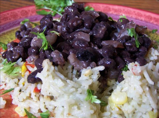Simple Simple Simple! Black Beans and Onions