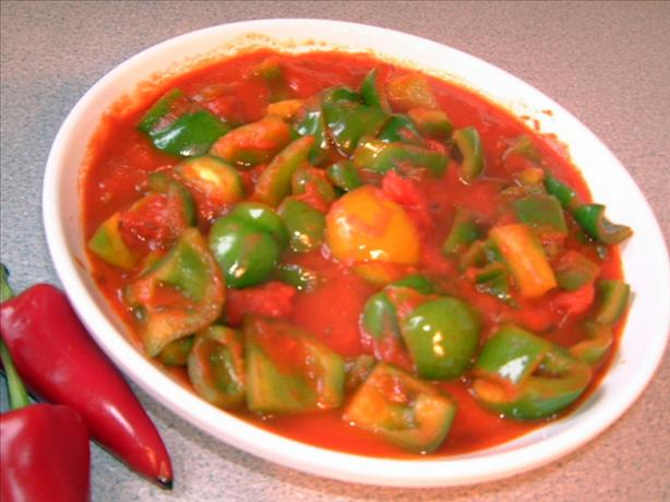 Green Pepper and Tomato Curry