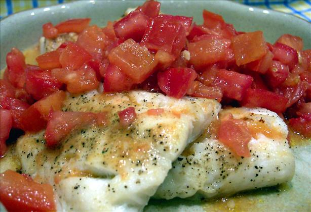 Grilled Cod With Moroccan-spiced Tomato Relish