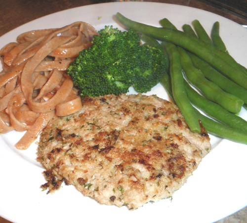 Veal Schnitzel With Herb and Cheese Crust