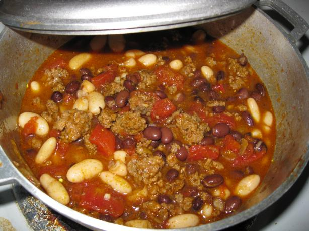 Beef and Black Bean Chili With Toasted Cumin Crema (Bobby Flay)