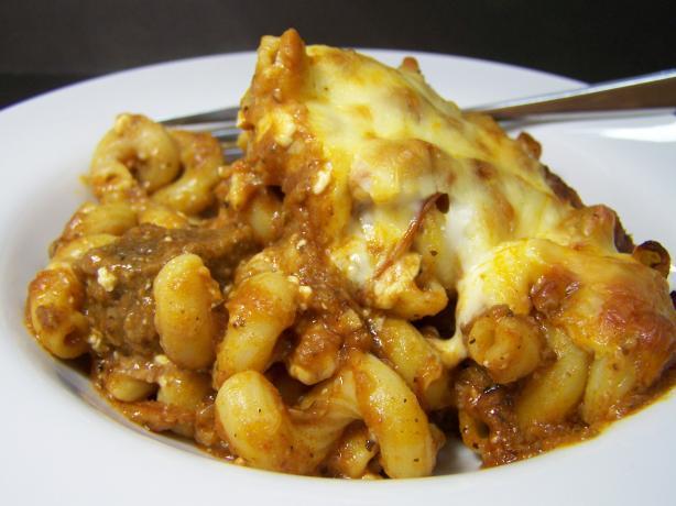 Beefed-Up Italian Style Pasta Bake