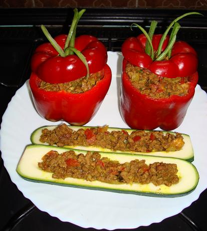 Spiced Ground Beef. for Stuffing Vegetables