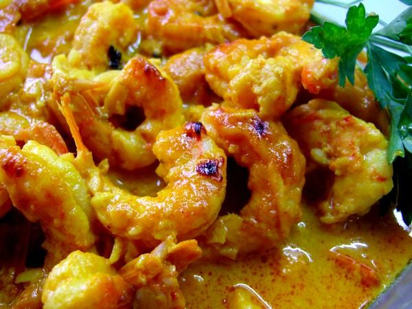 Spicy Jumbo Shrimps With Old Cape Flavours
