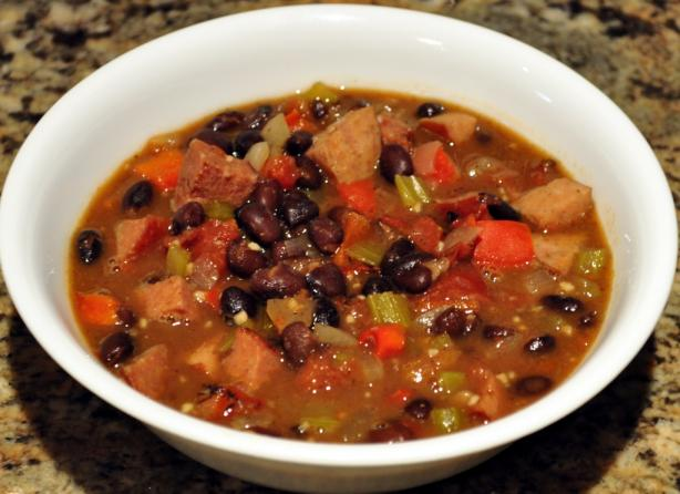 Black Bean and Smoked Sausage Soup