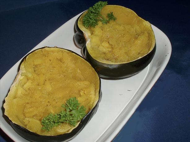 Baked Acorn Squash & Brown Sugar