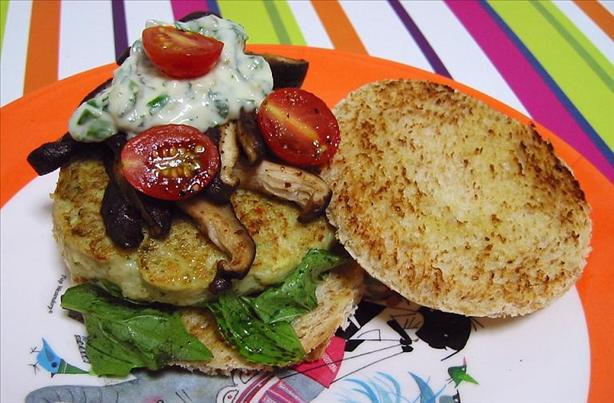Fish Burgers With a Herb Sauce