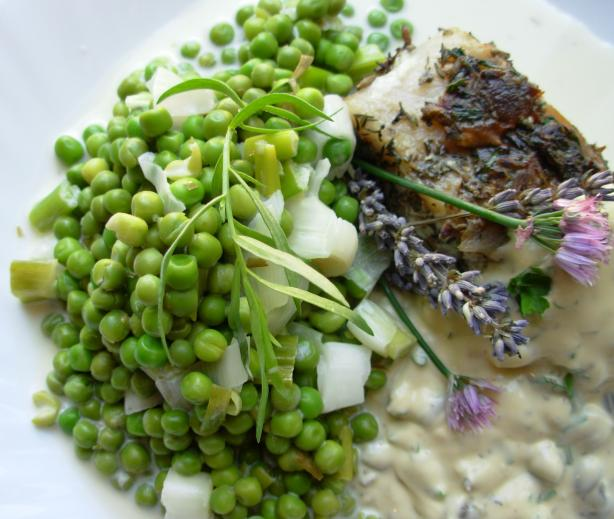 Peas in Tarragon Cream