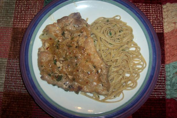 Veronica's Pasta Bianc (Pasta and Pork Chops)