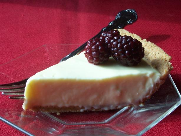 Lemon Cream Cheese Pie with Berries
