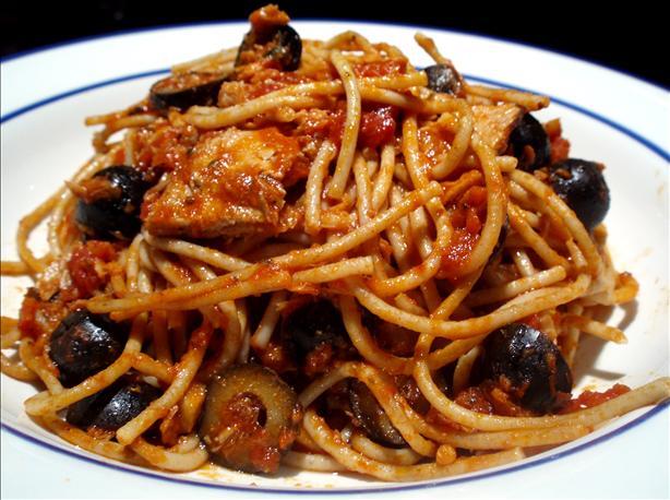 Spaghetti With Italian Tuna & Capers