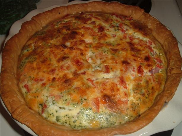 Ham-Broccoli Quiche