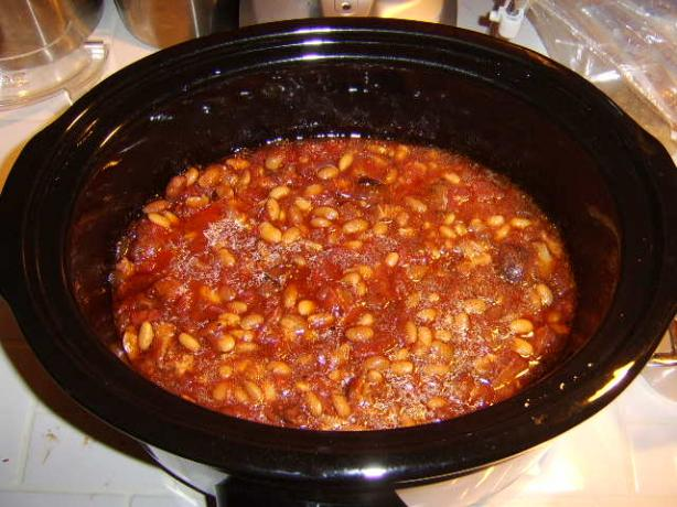 Crock Pot Pork and Beans