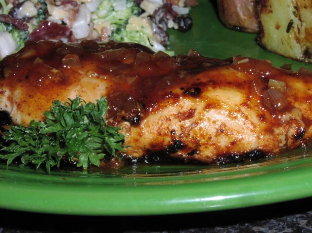 Grilled Chicken With Cherry Sauce