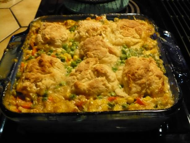 Turkey Pot Pie With Biscuits