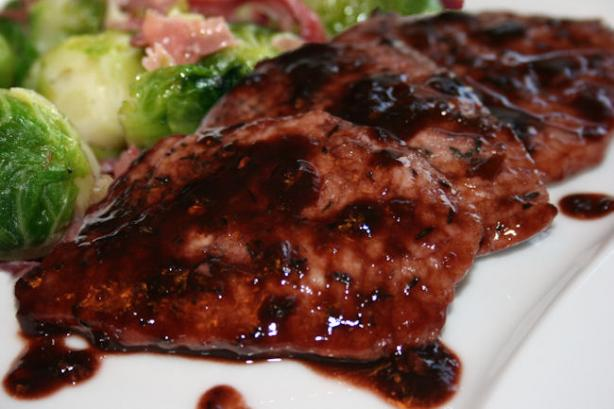 Blackberry Glazed Pork Tenderloin