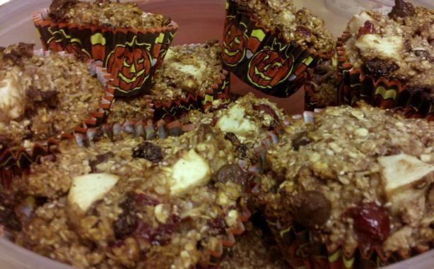 Gluten Free Apple Cherry Cranberry Coconut Pecan Granola 'Muffin