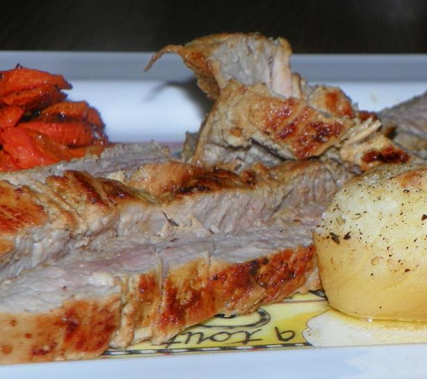 Mustard Garlic Pork Tenderloin