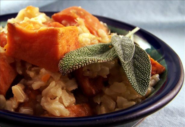 Roasted Pumpkin and Sweet Potato Pilau