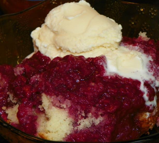 Upside-Down Raspberry Cake