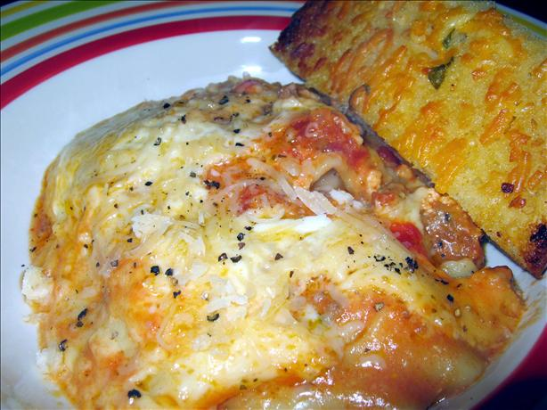 Slow Cooker Cheesy Lasagna With Sausage and Beef
