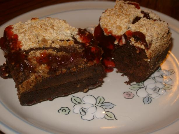 Brownie Cherry Cobbler