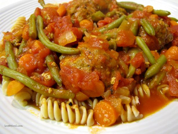 Meatballs Casserole With Green Beans