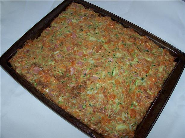 Low-fat Zucchini Slice