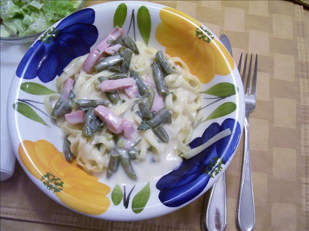Fettuccine Carbonara (Healthy Version)