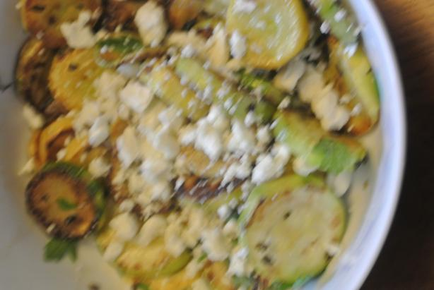 Sauteed Zucchini With Oregano and Feta