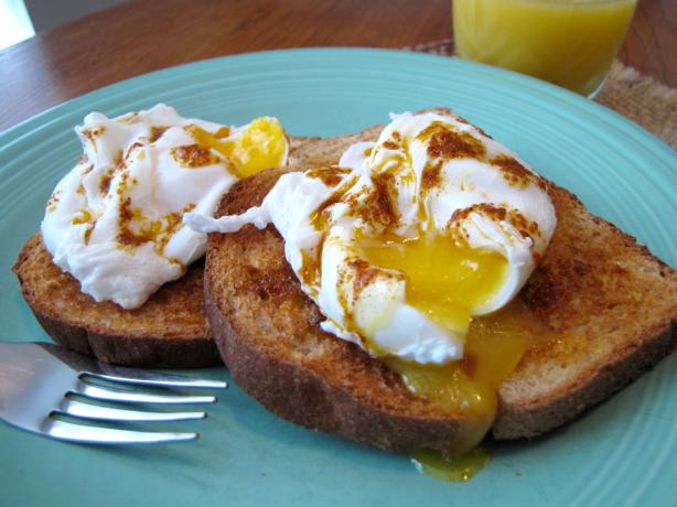 Poached Eggs With Harissa Oil